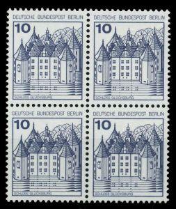 BERLIN DS BURGEN u. SCHLÖSSER Nr 532 postfrisch VIERERB 78070E