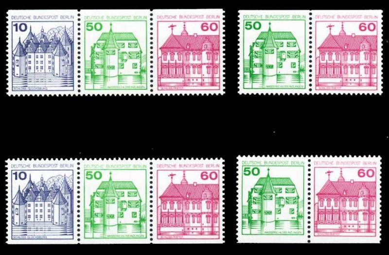 BERLIN ZUSAMMENDRUCK Nr W75-W78 postfrisch S395BDA