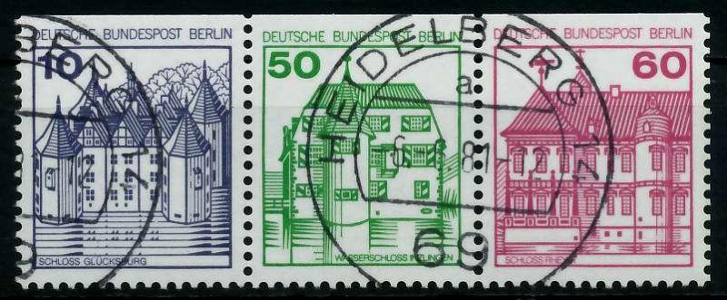 BERLIN ZUSAMMENDRUCK Nr W75 zentrisch gestempelt 3ER STR 784762