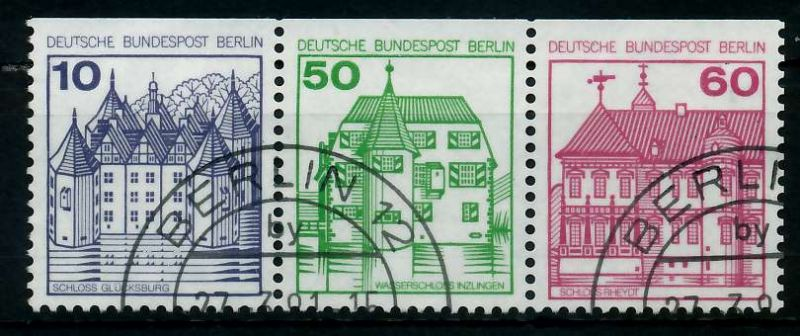 BERLIN ZUSAMMENDRUCK Nr W75 gestempelt 3ER STR 784776
