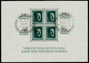 3. REICH 1937 Block 9 zentrisch gestempelt 784B62