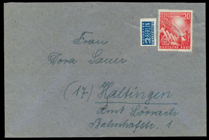 BRD 1949 Nr 112 BRIEF EF 78B396