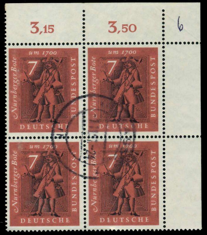 BRD 1961 Nr 365 zentrisch gestempelt VIERERBLOCK ECKE-ORE 7901C6