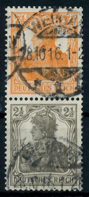 D-REICH ZUSAMMENDRUCK Nr S13a gestempelt SENKR PAAR 792702