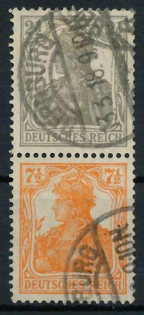 D-REICH ZUSAMMENDRUCK Nr S11a gestempelt SENKR PAAR 792742