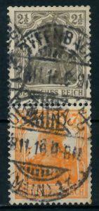D-REICH ZUSAMMENDRUCK Nr S11a gestempelt SENKR PAAR 792752