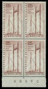 BERLIN 1956 Nr 157 postfrisch VIERERBLOCK 792C76