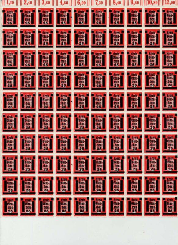 LOKAL-AUSG 1945 GLAUCHAU Nr 7 postfrisch BO 794D3A