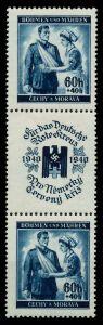 BÖHMEN MÄHREN Nr SZd2 postfrisch ungebraucht 3ER STR 795302