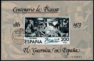 SPANIEN Block 23II zentrisch gestempelt S3CBE1A