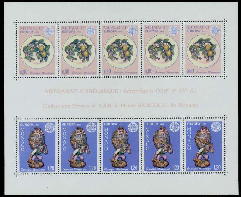 MONACO Block 10 postfrisch 7977A6