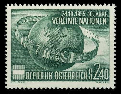 ÖSTERREICH 1955 Nr 1022 postfrisch 797B9E