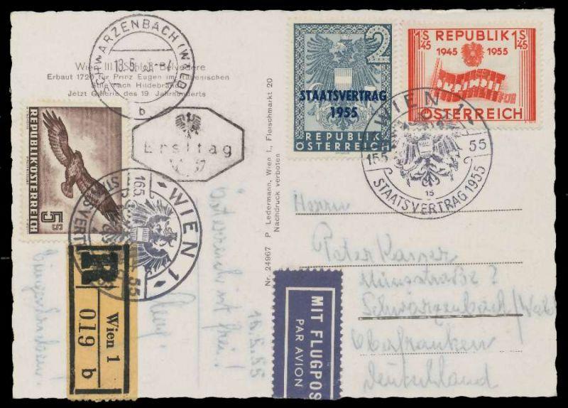 österreich 1953 Nr 986 Brief Mif Postkarte 7994ee Nr 08d00669b19