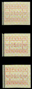 ÖSTERREICH Nr ATM 2-4S-ATM 2-6S postfrisch 7995D2