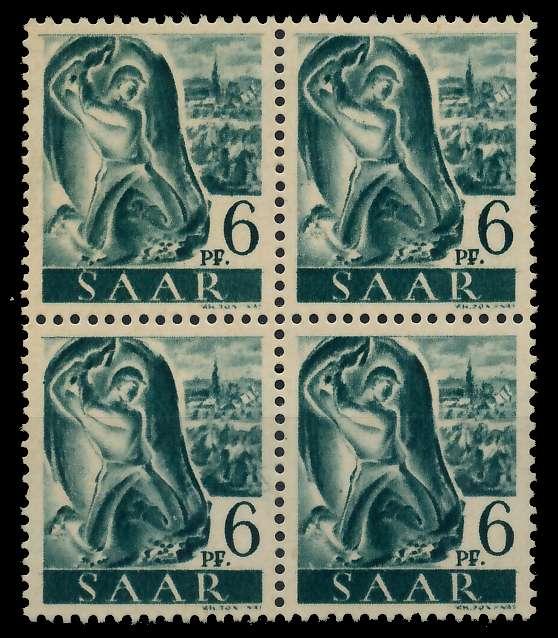 SAARLAND 1947 Nr 208Z postfrisch VIERERBLOCK 799986