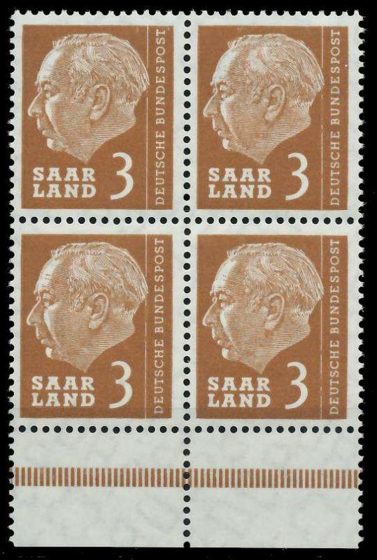 SAAR OPD 1957 Nr 382 postfrisch VIERERBLOCK URA 799B26