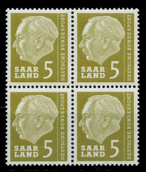 SAAR OPD 1957 Nr 384 postfrisch VIERERBLOCK 799B6A