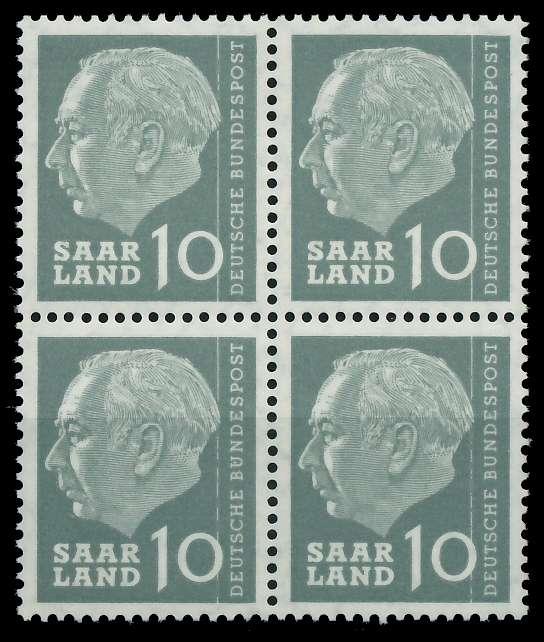 SAAR OPD 1957 Nr 386 postfrisch VIERERBLOCK 799B6E