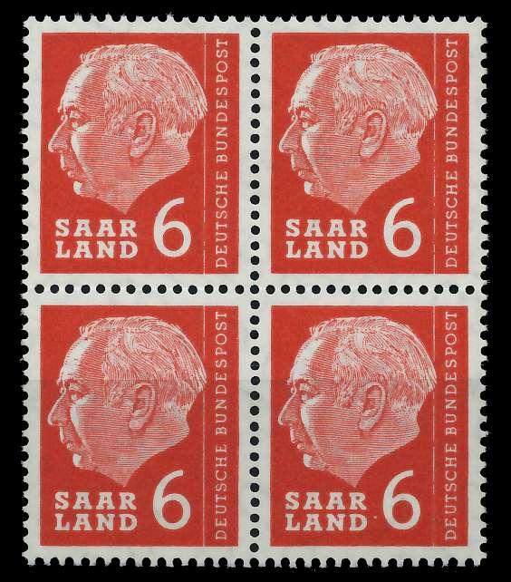 SAAR OPD 1957 Nr 385 postfrisch VIERERBLOCK 799B92