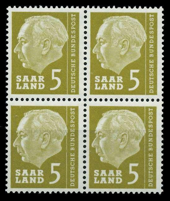SAAR OPD 1957 Nr 384 postfrisch VIERERBLOCK 799B9A