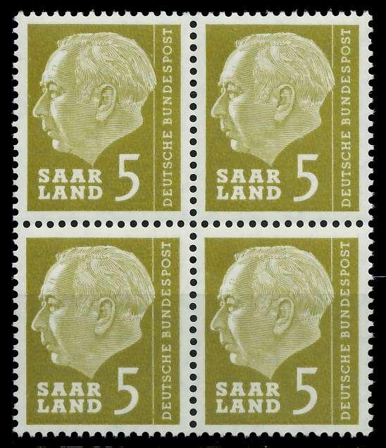 SAAR OPD 1957 Nr 384 postfrisch VIERERBLOCK 799B9E