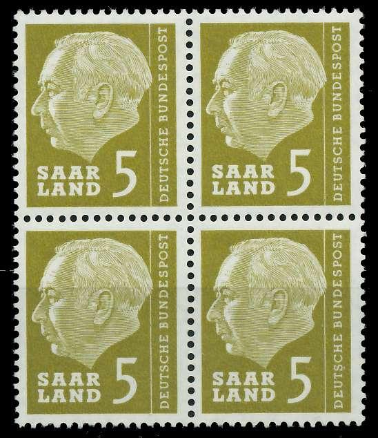 SAAR OPD 1957 Nr 384 postfrisch VIERERBLOCK 799BA2