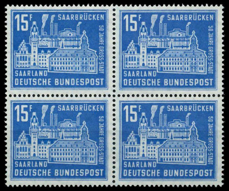 SAAR OPD 1959 Nr 446 postfrisch VIERERBLOCK 79C556