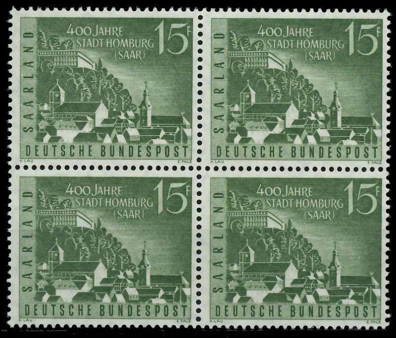 SAAR OPD 1958 Nr 436 postfrisch VIERERBLOCK 79C78A