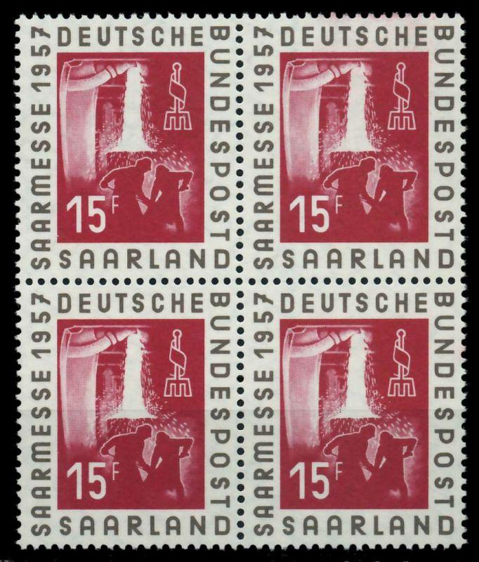 SAAR OPD 1957 Nr 400 postfrisch VIERERBLOCK 79C976