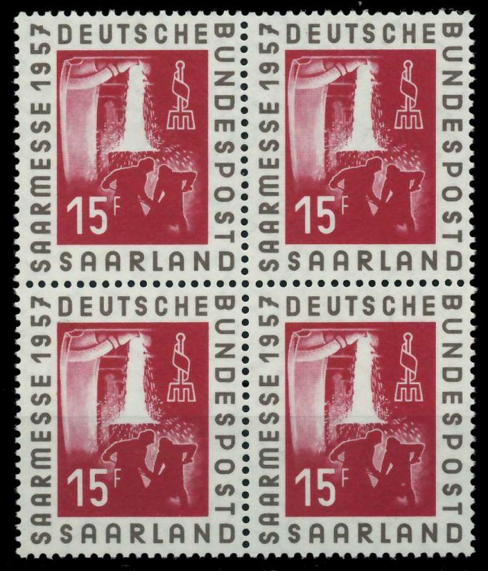 SAAR OPD 1957 Nr 400 postfrisch VIERERBLOCK 79C99E