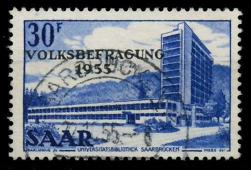 SAARLAND 1955 Nr 364 zentrisch gestempelt 79DD8A