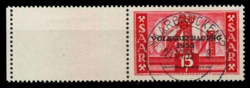 SAARLAND 1955 Nr 362L zentrisch gestempelt 79DDCE