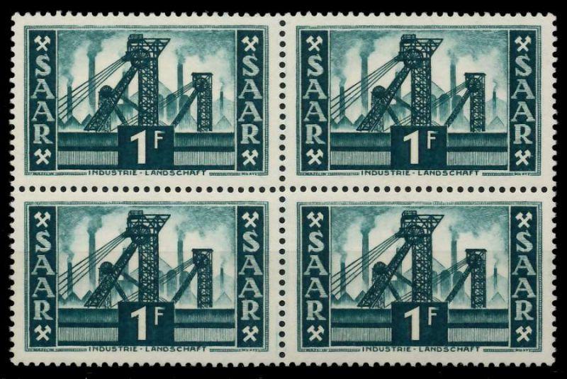 SAARLAND 1952 Nr 319 postfrisch VIERERBLOCK 7A1462