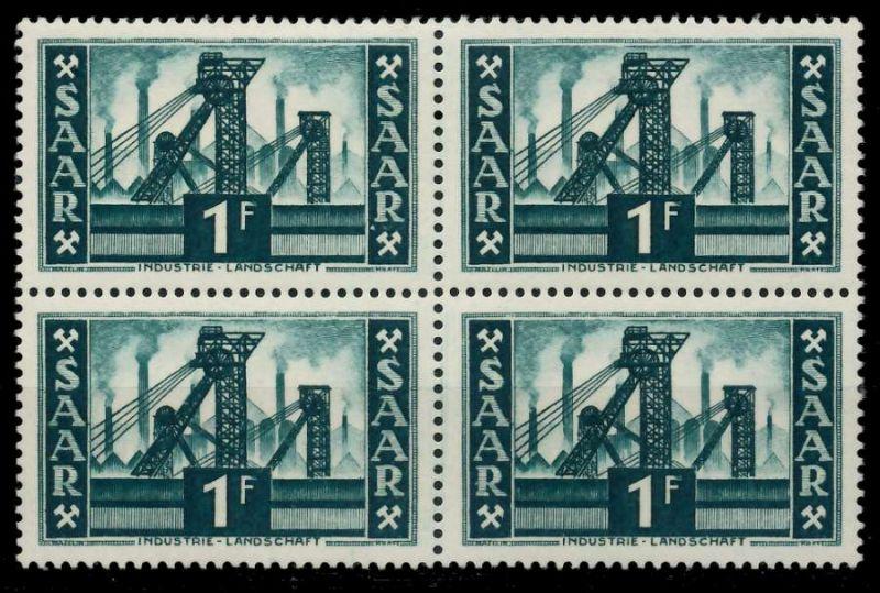 SAARLAND 1952 Nr 319 postfrisch VIERERBLOCK 7A1466
