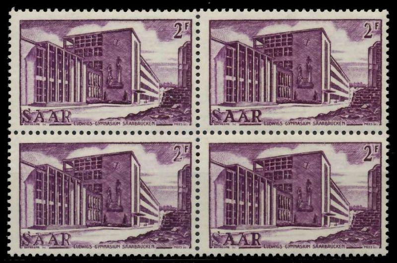 SAARLAND 1952 Nr 320 postfrisch VIERERBLOCK 7A146A