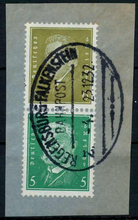 D-REICH ZUSAMMENDRUCK Nr S44 zentrisch gestempelt SENKR PAAR 7904A2 0