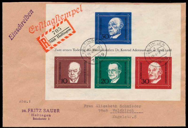 BRD BLOCK KLEINBOGEN 1949 1989 Block 4 BRIEF EF 79295E 0