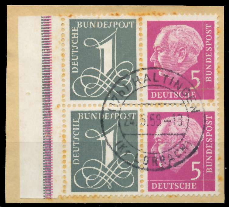 BRD ZUSAMMENDRUCK Nr W17X zentrisch gestempelt VIERERBLOCK B 792C32