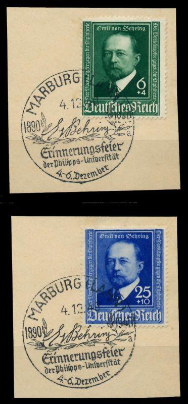 3. REICH 1940 Nr 760-761 zentrisch gestempelt Briefst³ck 7950BA 0