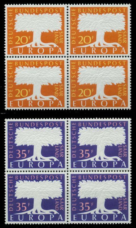 SAAR OPD 1957 Nr 402-403 postfrisch VIERERBLOCK 79C8CA 0