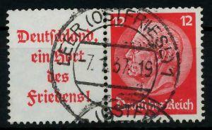D-REICH ZUSAMMENDRUCK Nr W67 zentrisch gestempelt WAAGR PAAR 7A1866