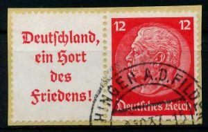 D-REICH ZUSAMMENDRUCK Nr W67 gestempelt WAAGR PAAR Briefst³ck 7A188A