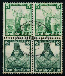 D-REICH ZUSAMMENDRUCK Nr S233 gestempelt VIERERBLOCK 7A18EA