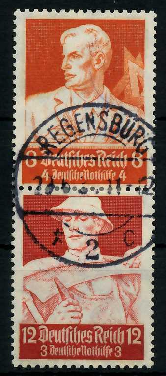 D-REICH ZUSAMMENDRUCK Nr S227 zentrisch gestempelt SENKR PAA 7A196E
