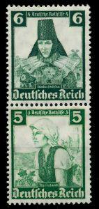 D-REICH ZUSAMMENDRUCK Nr S233 ungebraucht SENKR PAAR 7A199A