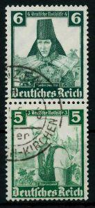 D-REICH ZUSAMMENDRUCK Nr S233 gestempelt SENKR PAAR 7A19A2