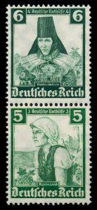 D-REICH ZUSAMMENDRUCK Nr S233 postfrisch SENKR PAAR 7A19AE