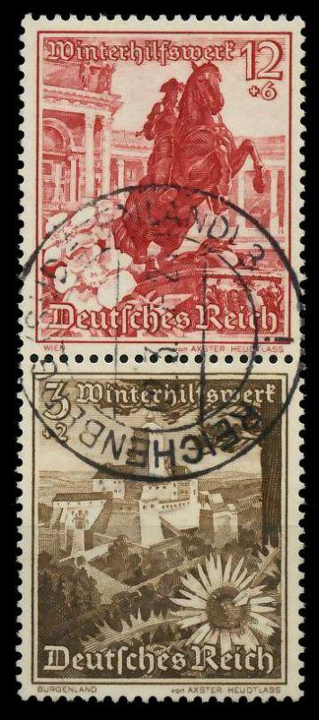 D-REICH ZUSAMMENDRUCK Nr S249 zentrisch gestempelt SENKR PAA 7A401A