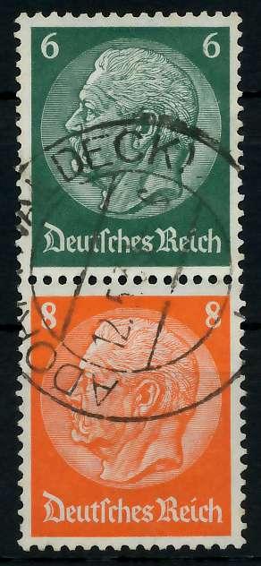 D-REICH ZUSAMMENDRUCK Nr S159 zentrisch gestempelt SENKR PAA 7A6332