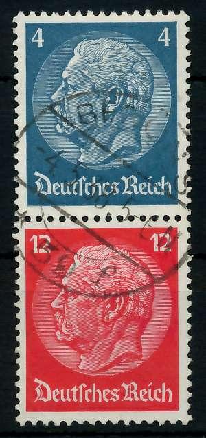 D-REICH ZUSAMMENDRUCK Nr S163 zentrisch gestempelt SENKR PAA 7A634A